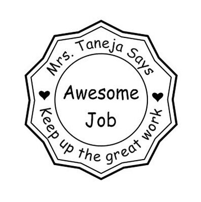 Teacher Stamp Round Self Ink Personalized with Name Classroom Stamp-Library Stam