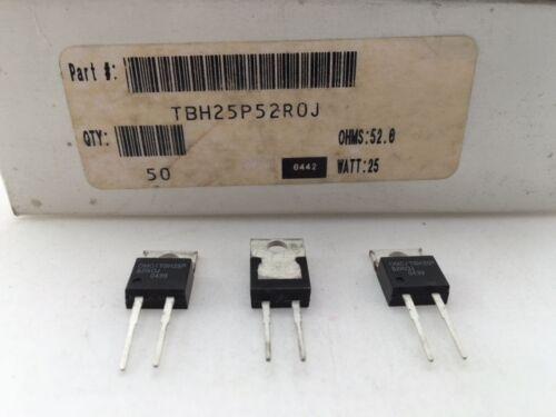 Thick Film Resistor TBH25P52R0J Ohmite High Power 25 Watt 52 Ohm 5/% 3 pcs