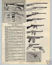 1959 PAPER AD Toy Guns Rifles Mattel Daisy Super Scope Tommy Burp Cap Gun Pistol
