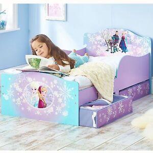 Disney Frozen Mdf Junior Bebe Lit Avec Tiroir Rangement Neuf Ebay