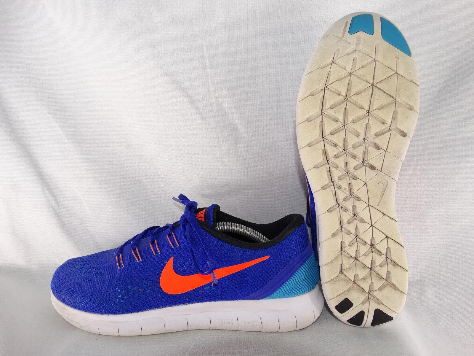 Nike Free RN Laufschuhe 831508-401 blau-orange EU 42 US 8,5