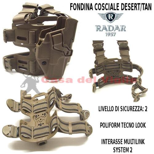 Fondina Radar in polimero con sistema di sicurezza per Glock 17 con kit cosciale