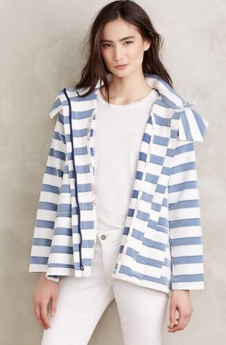 Anthropology Størrelse Hooded Anorak Jacket Back Medium Lace New BxfHCqnwq