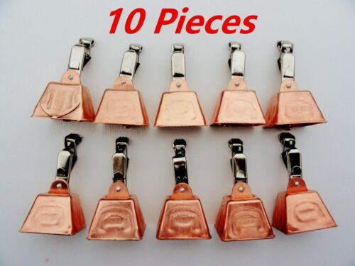 10 Pieces Copper Pole Bells Fish Alarm Bells