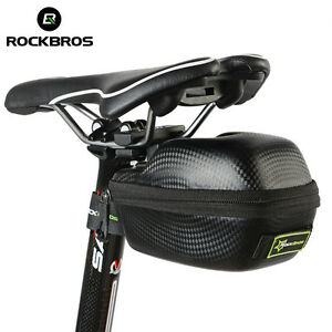 RockBros-PU-Leather-Carbon-Fiber-Bicycle-Bike-Seat-Saddle-Bag-Waterproof-Black
