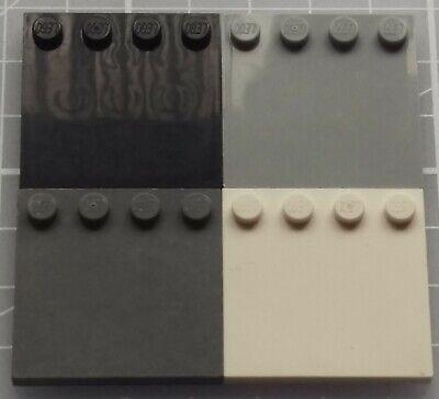 Lego 6179 Choose Colour Needed x 2 Pieces Tile 4x4 Modified//Studs on Edge