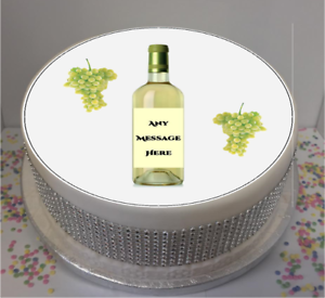 Image Is Loading Personalised White Wine Bottle Amp Grapes 7 5