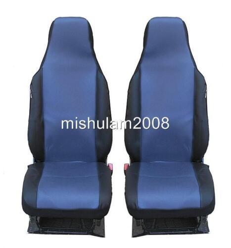 2 frontal auto fundas para asientos ya referencias azul-negro de sola pieza para Mercedes Benz