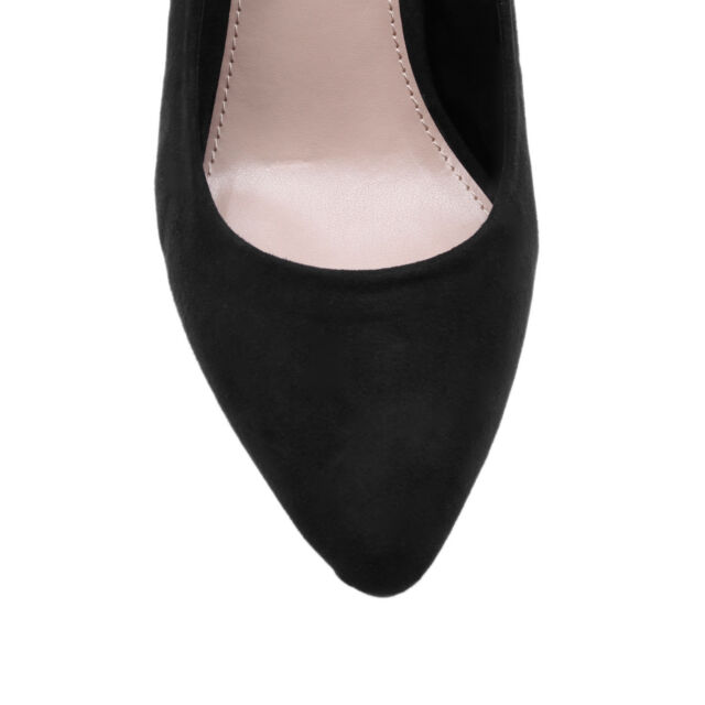 KAIRO CARVELA KURT GEIGER SUEDETTE BLACK WOMENS LADIES SHOE