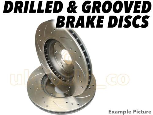 Drilled /& Grooved FRONT Brake Discs BMW 3 Series Touring E46 320 i 1999-00