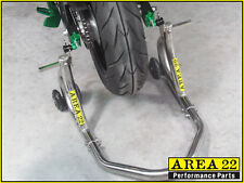 Area 22 Kawasaki Z125 / Pro Z125 16-17 Stainless Steel Rear Paddock Racing Stand