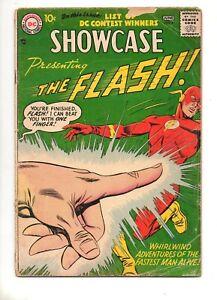 Showcase-8-2ND-APP-The-FLASH-ORIGIN-amp-1ST-CAPTAIN-COLD-KEY-DC-1957-VG-4-5