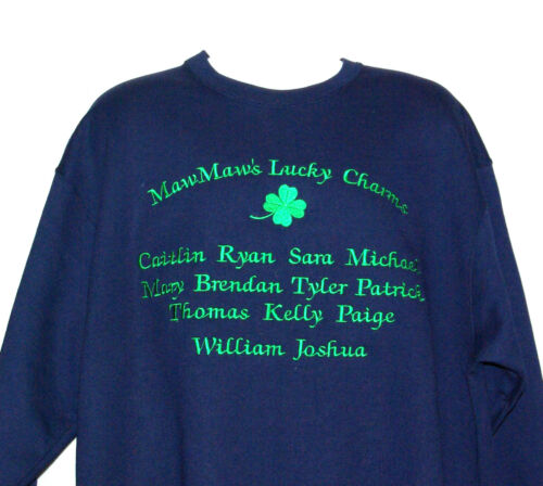 Custom Personalize Thirteen Grandkids Names AGIFT 595 Nanny MawMaw Sweatshirt
