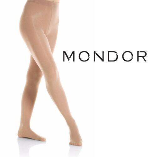 Mondor Footed Performance Figure Skating Dance Tights 40 Denier LIGHT TAN AXXL