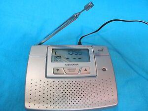 radio shack noaa alert weather radio alarm clock 12 260 ebay rh ebay com Radio Shack 12 519 Weather Radio Radio Shack Desktop Weather Radio