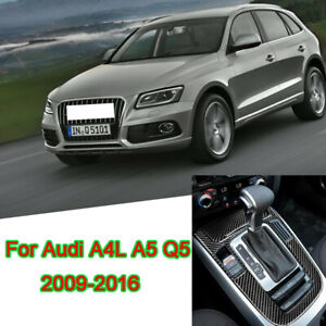 For-Audi-A4-A5-Q5-2009-16-Carbon-Fiber-Central-Gear-Shift-Panel-Decorative-Trim