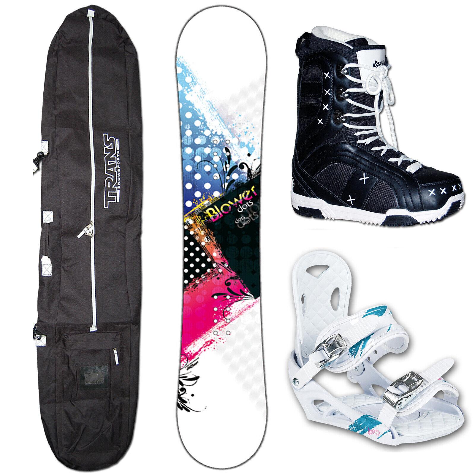 Snowboard Blower Dots 156cm blanco + Elfgen Eco Fijación M + Bag + botas
