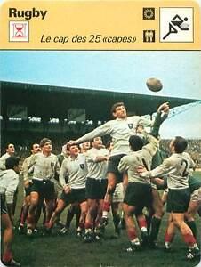 FICHE-CARD-Benoit-Dauga-France-Irlande-Cap-des-25-034-capes-034-1966-RUGBY-a-XV-1970s