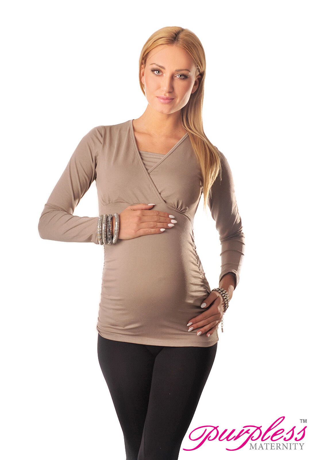 d05bfef1af83e 2 in 1 Maternity and Nursing Top Pregnancy Breastfeeding 7007 Variety of  Colours | eBay