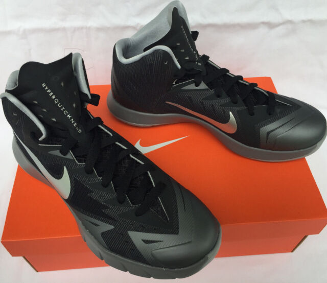 276f43bf7c0 Frequently bought together. Nike Lunar Hyperquickness 652777-004 Black  Silver Basketball Shoes Men s ...