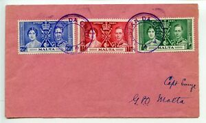 TRISTAN-DA-CUNHA-1938-Malta-Coronation-set-3-cancelled-TRISTAN-DA-CUNHA-cachet