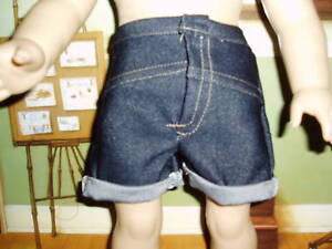 Denim-Jeans-Shorts-18-034-doll-clothes-fits-American-Girl