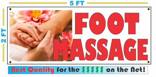 XXL Parlor Spa Full Color FOOT MASSAGE All Weather Banner Sign NEW High Quality