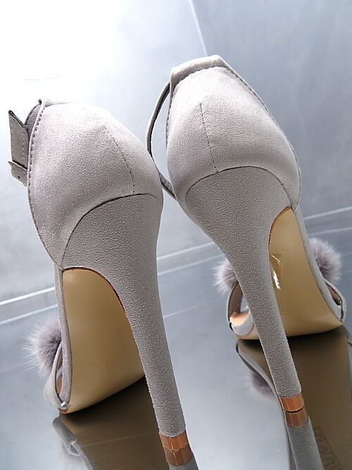 NEU NEU NEU HOHE Fashion Luxus Damen Sandalen Pumps Schuhe Pelz O38 High Heels 37 b0c7d2