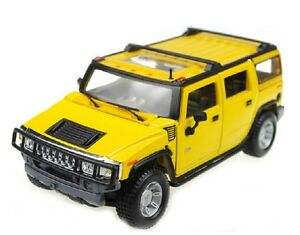 Maisto-Hummer-H2-SUV-Scale-1-24-Yellow-Off-road-Diecast-Car-Model