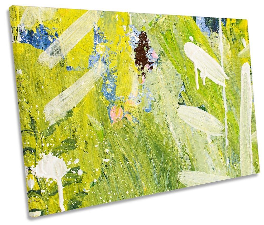 Grün Abstract Grunge SINGLE CANVAS WALL ARTWORK Print Art