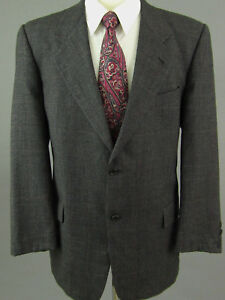 Valentino-Uomo-Neiman-Marcus-Wool-Grey-46R-Two-Button-Blazer-Sport-Coat-Italy