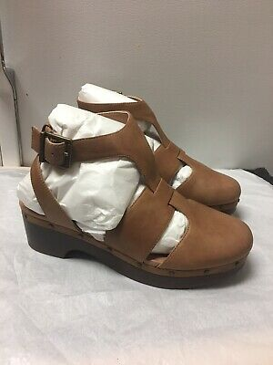 VIONIC Day Faye T-strap Chunky Heels Mary Jane Comfort Clogs Shoes Size 7 NWOB