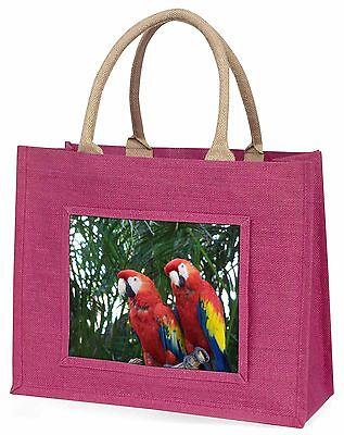 Ara Papageien in Palme Baum große rosa Einkaufstasche