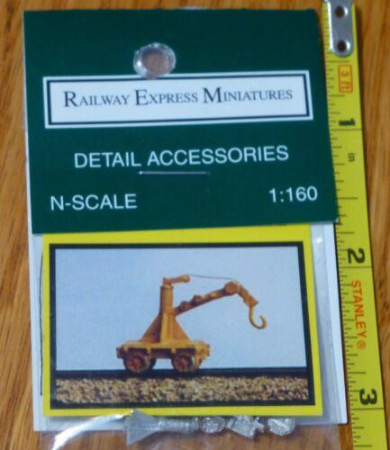 MOW Fairmont Derrick Crane Railway Express Miniatures #2013 N Scale