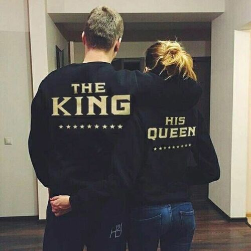 Couple  The King and His Queen Love Matching Shirts Couple Long Sleeve SHIRTS