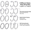 32PCS-20G-Nose-Hoop-Ring-L-Shaped-Nose-Stud-Stainless-Steel-Piercing-Jewelry-Set thumbnail 5