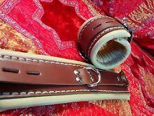 Brown Leather Bondage Cuffs Medical Restraints Hospital Restraints Natural