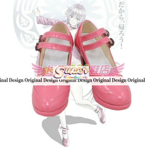 K Project K Missing Kings NEKO Pink Boot Party Shoes Cosplay Boots Custom-made
