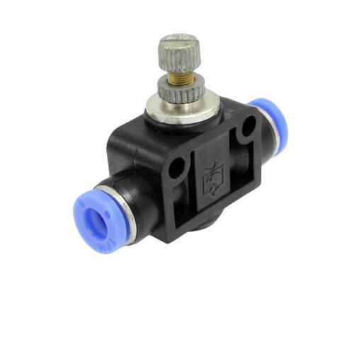 Empuje 6mm a 6mm Conector rápido neumático de aire regulador de velocidad