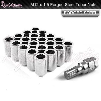 20 M12x1.5 Tuner Wheel Nuts Slim Internal Drive Mazda Mitsubishi Ford JDM Red