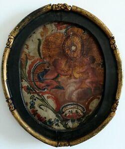 Guadameci-peinture-Baroque-16-ou-17eme-siecle-cadre-d-039-epoque-65x55-Espagne