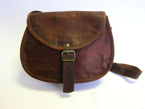 Satchel Bag Handmade Brown Leather Vintage Style Bag Buckles Clutch Bag