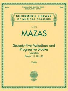 75 Mélodieux Et Progressive Studies Complete Op. 36 Schirmer 050490035-afficher Le Titre D'origine