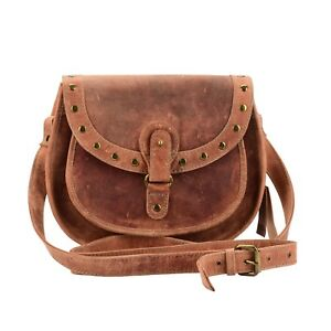 Details About Mandava Handmade Genuine Leather Women S Cross Body Bag Vintage Saddle Brown