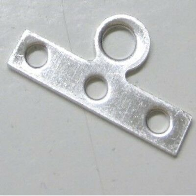 50 pieces 3 Hole Iron Spacer Bars Findings- Silver - A5668