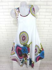 SOMMER Kleid Strandkleid Tunika Trägerkleid Hippie Weiß Gr. 46 48 50 (812)