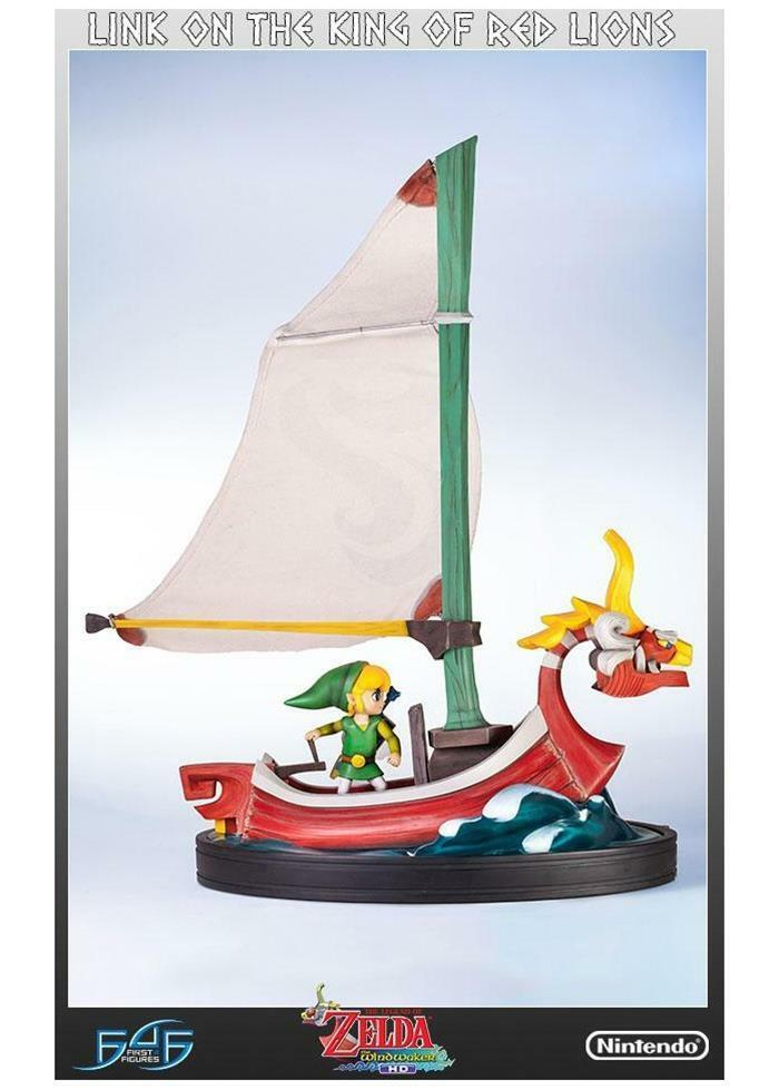 STATUE THE LEGEND OF ZELDA WIND WAKER 64 CM LINK ON THE KING OF RED LIONS STATUE