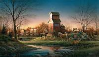 Terry Redlin Above The Fruited Plain S/n Paper Limited Edition America Farms