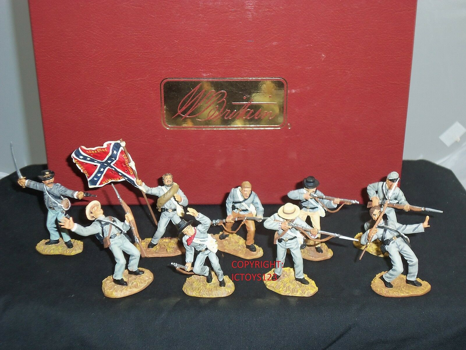 BRITAINS 17624 AMERICAN CIVIL WAR IMPERISHABLE GLORY METAL TOY SOLDIER SET