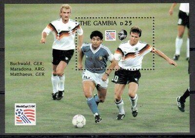 Ehrlich Gambia Michelnummer Block 211 Postfrisch Reine WeißE 6411 - Fußball -wm 1994
